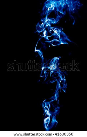 blue smoke series  on black background