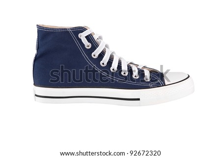 Blue sneaker isolated on white background