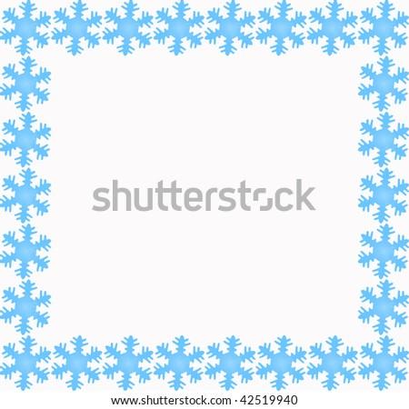 Blue Snowflake Border Stock Photo 42519940 : Shutterstock