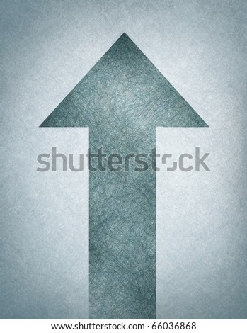 blue soft texture arrow on vintage looking background with slight grunge edges