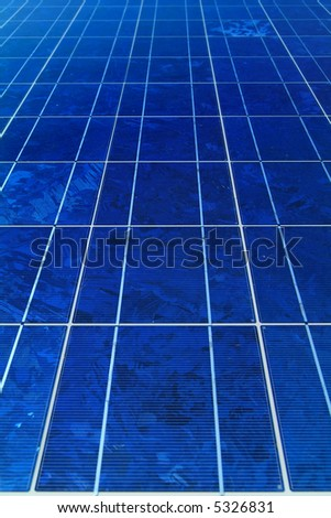 blue solar cells for power generation