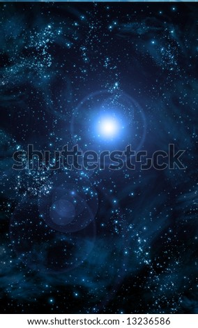 Blue Space - stock photo