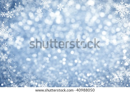 Blue Sparkling Lights Background