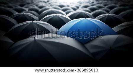 Blue special umbrella, special one concept