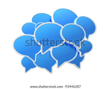 Blue speech bubbles.