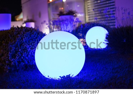 Blue spheres in the night #1170871897