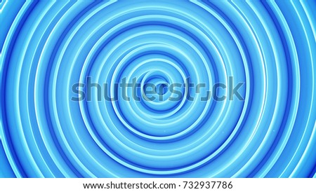 Stock Photo Blue spiral shape. Abstract 3D render