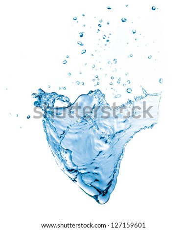 blue splash isolated on a white background