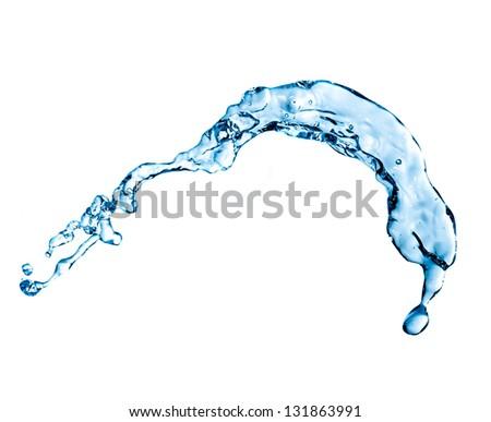 blue splash isolated on white background