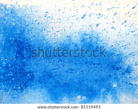 Blue Splash Watercolor Background