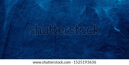 Blue Splatters Textile Background .Tie Dye Painting Art. Craft Messy Background. Indigo Frame Textile Background .Hand Drawing Paint. Aquarelle Wet Wash. Ink Spray