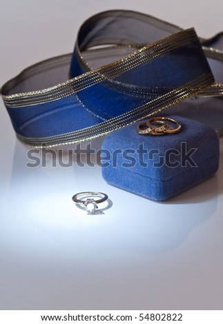 stock photo Blue Spot Light on Wedding Ring