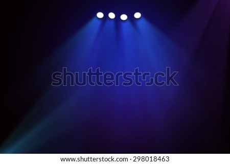Blue stage theater background  #298018463