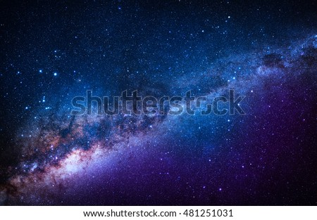 Blue Stanfield - Elements of this Image Furnished by NASA #481251031