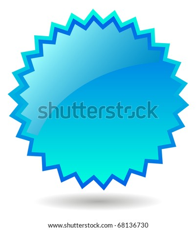 Blue star icon - stock photo