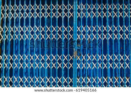 Blue Steel Door #619405166