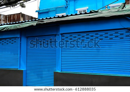 blue steel rolling shutter #612888035