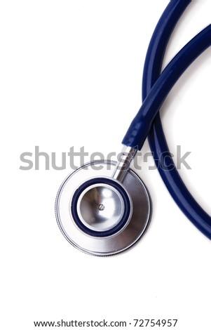 Blue stethoscope, closeup