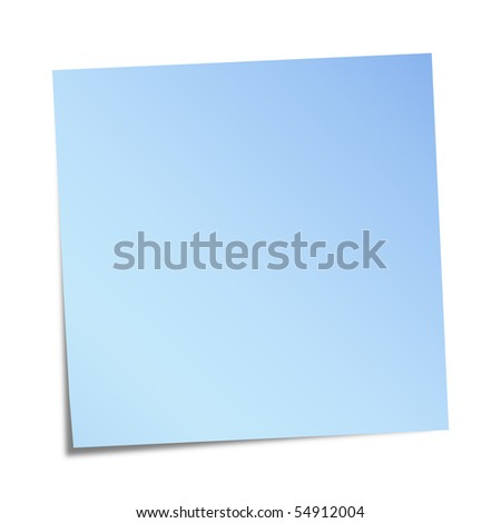 Blue sticky note