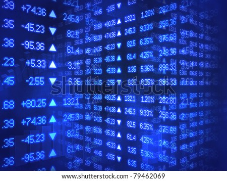 Blue Stock Ticker Zig Zag