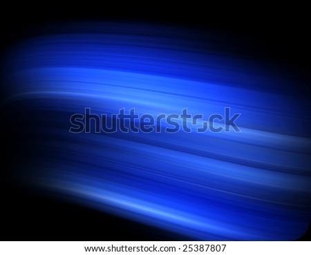 Blue streak pattern on black for backgrounds