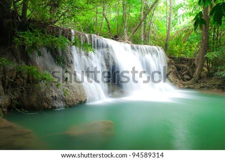 Blue stream water in Thailand