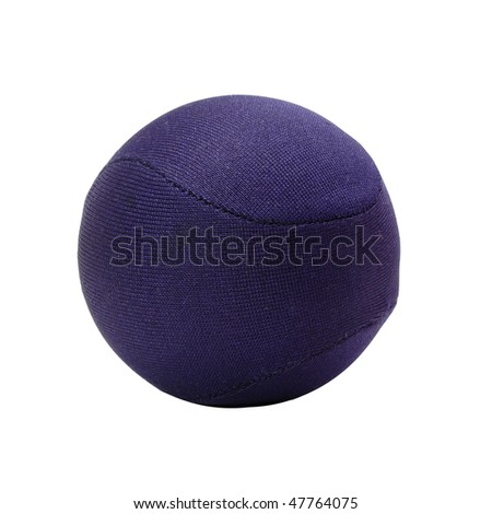 blue stress ball isolated on white background