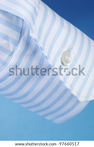 Blue stripe sleeve shirt