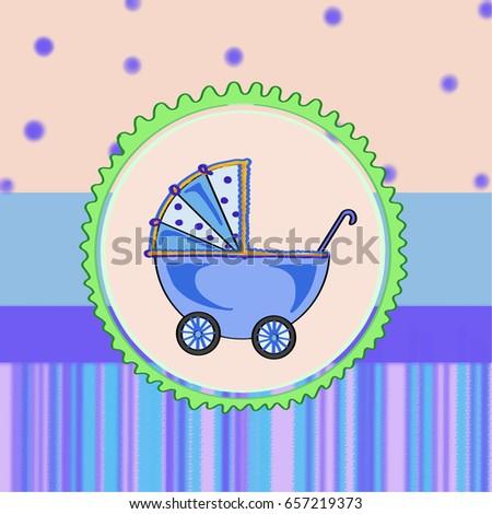 blue stroller Stok fotoğraf ©