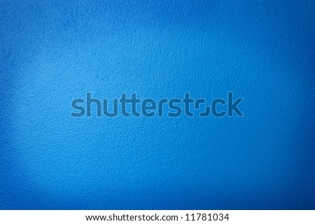 Blue Stucco Wall for Background Texture