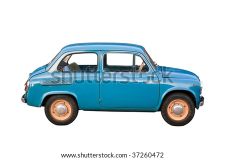 old-timer car isolated on