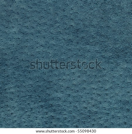 Blue suede leather texture