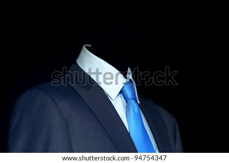 Blue suit and tie for businessman