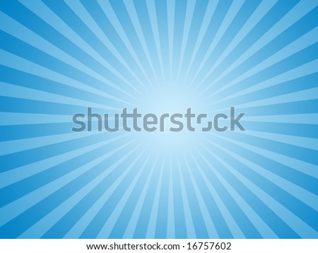 stock photo : Blue Sun Rays Background