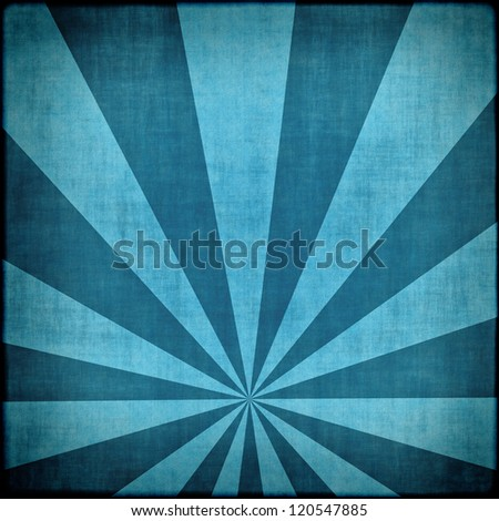 Blue sunbeams abstract background