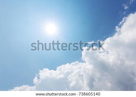 blue sunny sky - Shutterstock ID 738605140