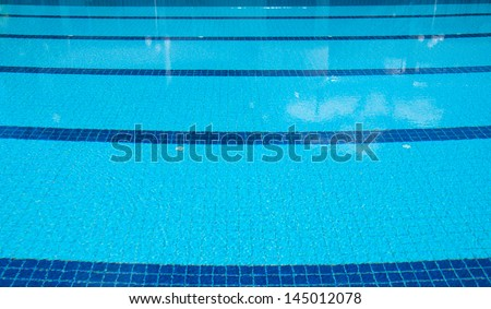blue swimming pool  at sport center.