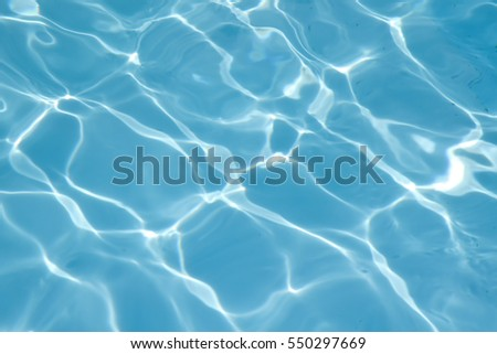blue swimming pool rippled...