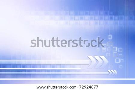 blue system fusion background illustration