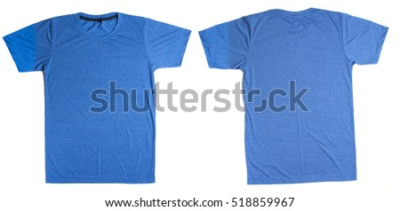 blue t-shirt template ready for your own graphics #518859967