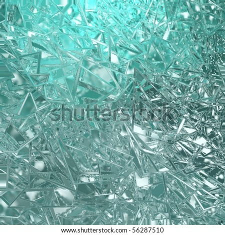 blue teal abstract broken glass background