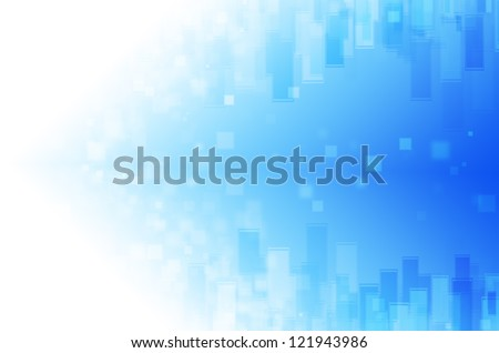 blue tech with square background