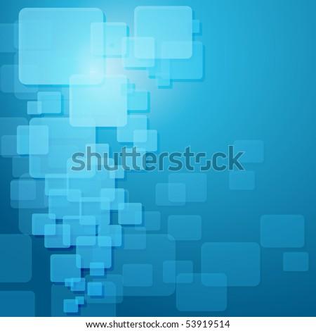 Blue techno template.