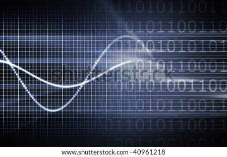 Blue Technology Forecast in Sales and Data - stock photo
