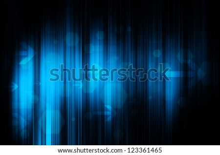 blue technology in black background