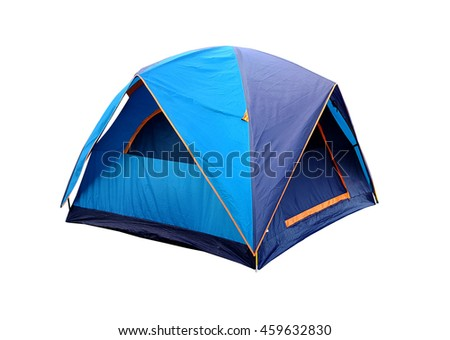 blue tent camping isolated #459632830