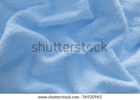 blue terry texture - stock photo