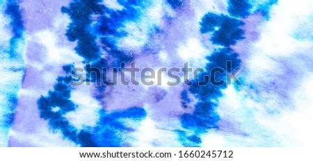Blue Textile Art .Watercolor Painting Art. Dyed Texture Art. Paint Splashing Banner. Pastel Textile Art .Watercolour Material Print. Blue Dirty Tie Dye Banner.