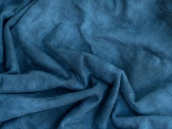 blue texture blur background of stretch synthetic fabric fiber with abstract pattern and curved line a high resolution closeup soft focus of cotton cloth surface for art and design