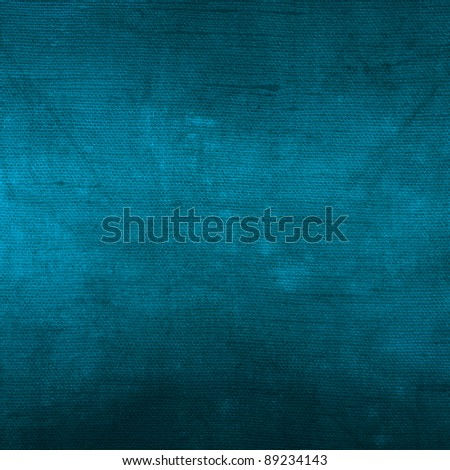 Blue textured cloth as background